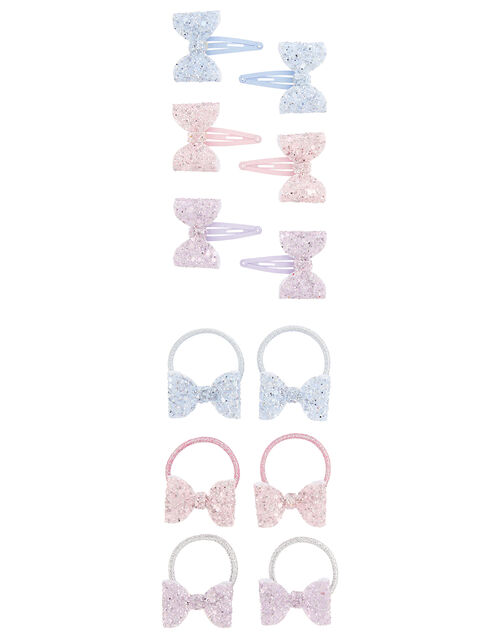Frosted Bow Hair Accessory Set, , large