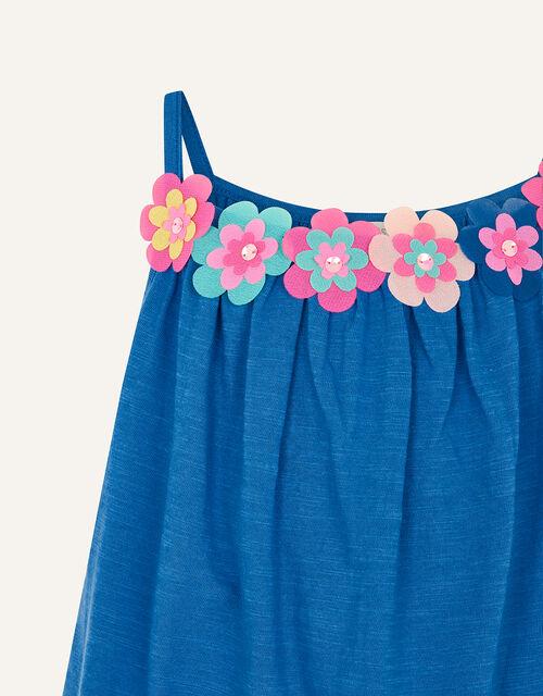 Fiesta Flower Cami , Blue (BLUE), large