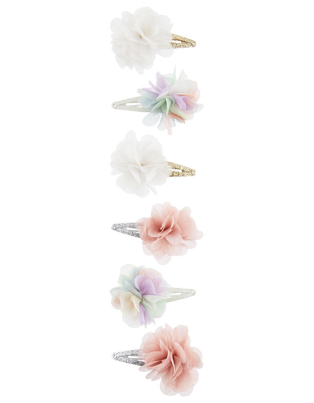 Rainbow Flower Hair Clip Multipack , , large