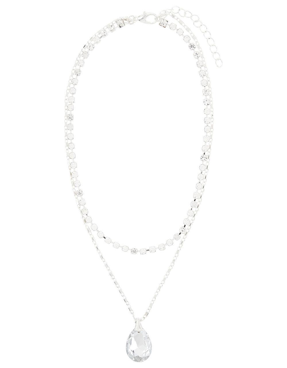 Diamante Layered Necklace , , large
