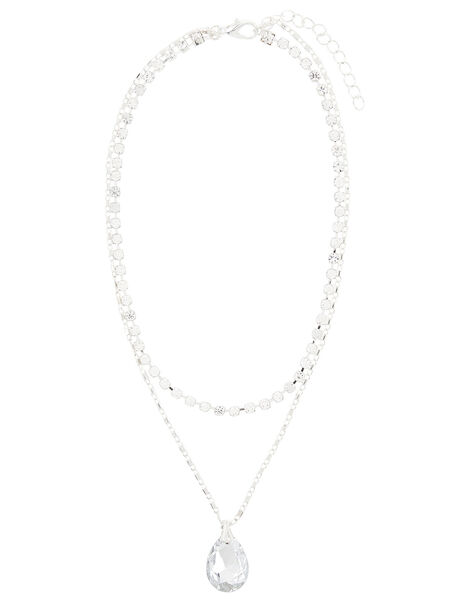 Diamante Layered Necklace , , large