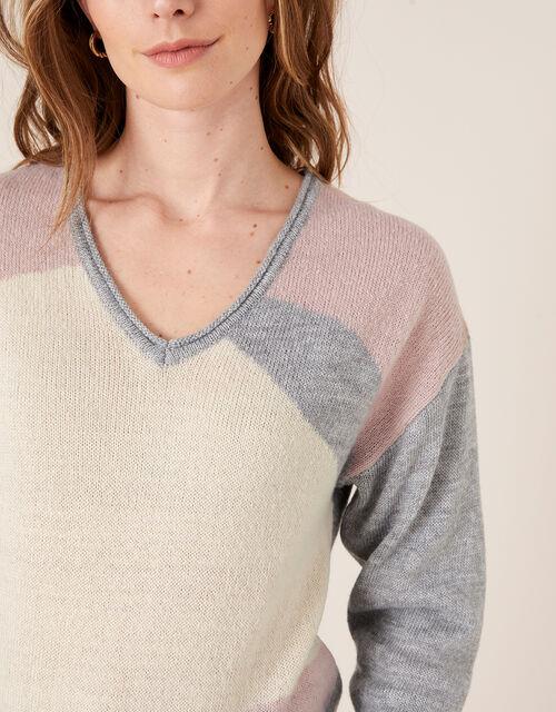 Colour-Block Jumper, Grey (GREY), large