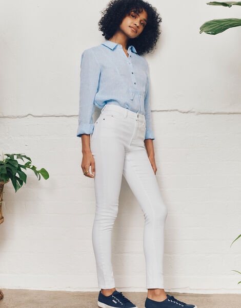 Iris Regular-Length Skinny Jeans White, White (WHITE), large