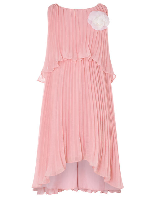 Corsage Pleated Dress, Pink (PINK), large