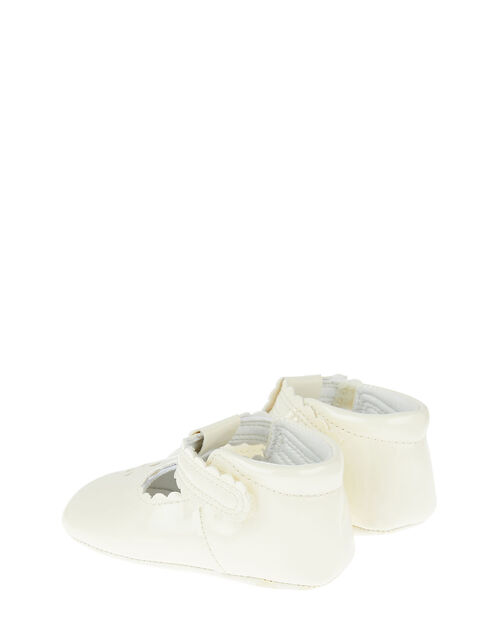 Patent Cutwork Booties, Ivory (IVORY), large