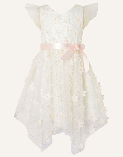 Sweet Petal 3D Hanky Hem Dress  Ivory, Ivory (IVORY), large