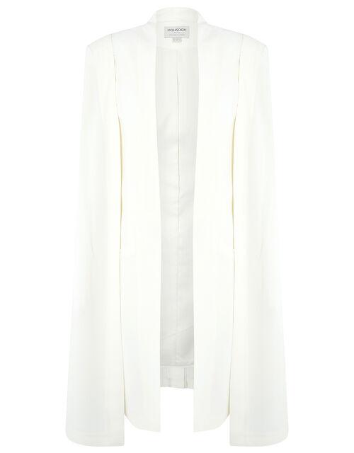 Katya Longline Cape Jacket, Ivory (IVORY), large