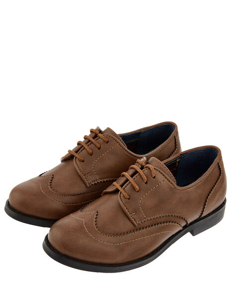 Boys' Oxford Brogue Shoes Brown, Brown (BROWN), large