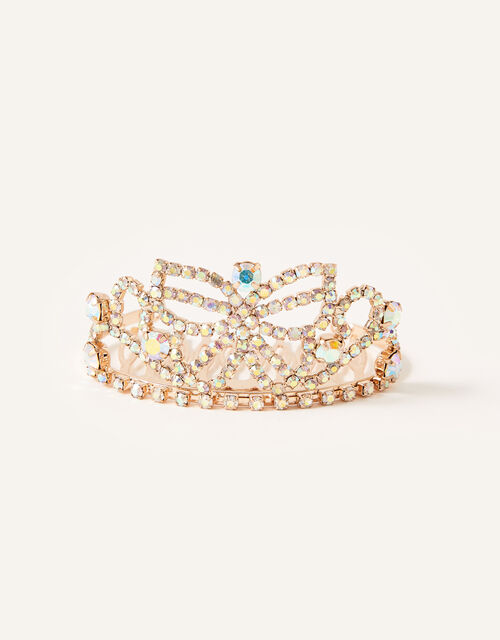 Diamante Butterfly Tiara Comb, , large