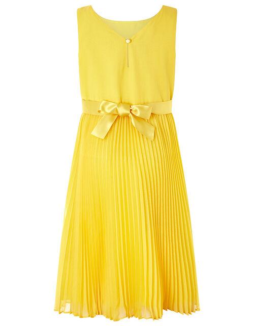 Keita Pleated Dress, Yellow (YELLOW), large