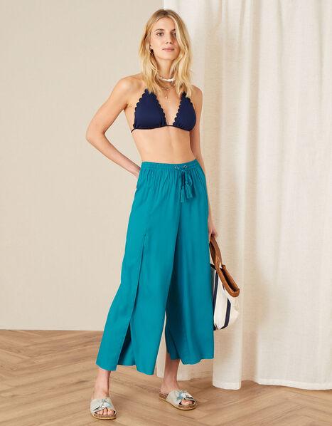 Split Leg Culottes in LENZING™ ECOVERO™ Blue, Blue (TURQUOISE), large