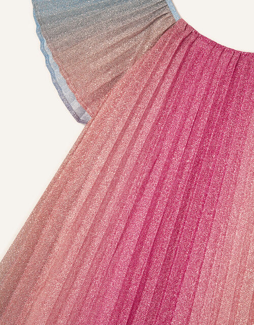 Rainbow Shimmer Pleated Dress, Multi (MULTI), large