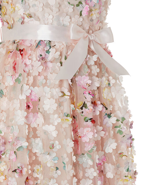 Florence 3D Flower Occasion Dress, Pink (PINK), large