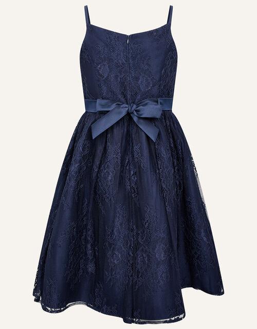Lace Prom Dress, Blue (NAVY), large