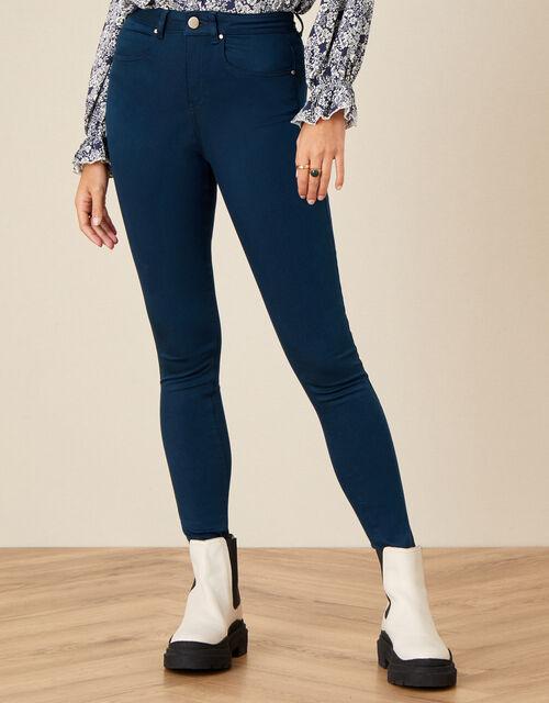 Nadine Regular-Length Skinny Jeans, Blue (PETROL), large