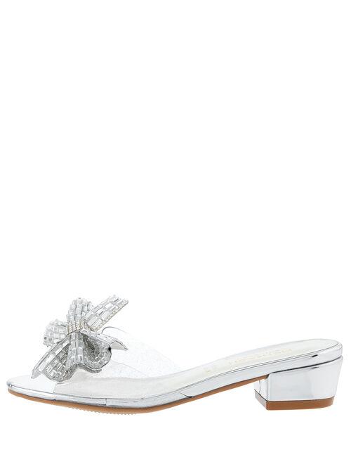 Princess Dazzle Slipper Sandals, Silver (SILVER), large