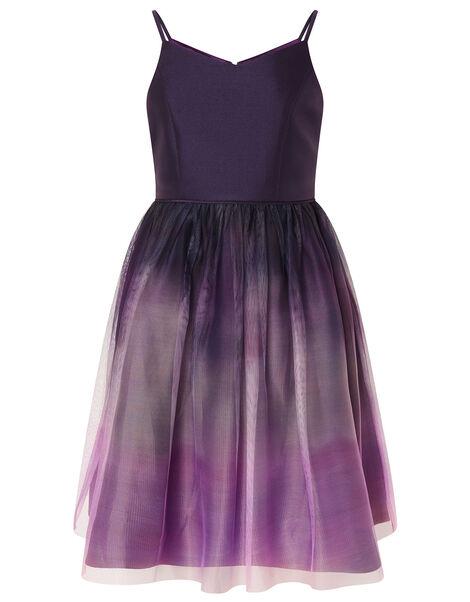 Ombre Skirt Prom Dress Purple, Purple (PLUM), large