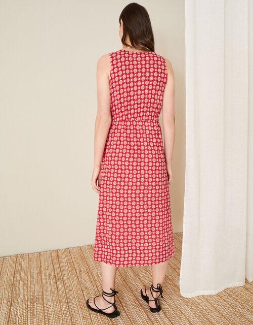 Jade Tile Print Dress , Red (RED), large