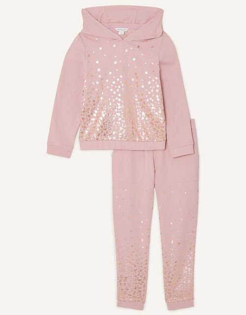 Foil Star Hoody and Joggers Set, Nude (NUDE), large