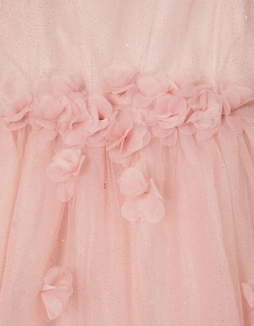 Blossom Glitter Tulle Dress, Pink (PINK), large