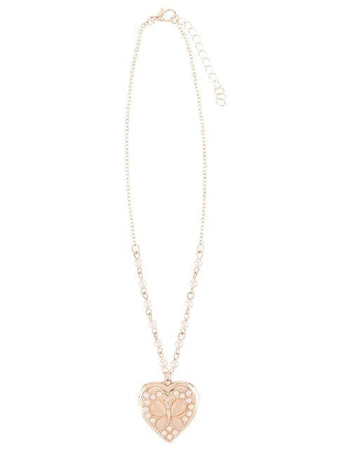 Jewel Butterfly Locket Necklace , , large