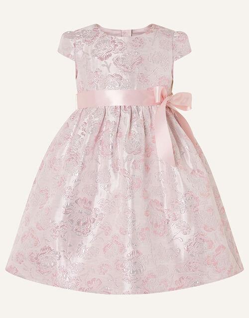 Baby Jacquard Cap Sleeve Dress, Pink (PINK), large