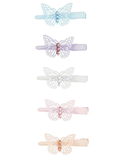 Rainbow Butterfly Hair Clip Set, , large