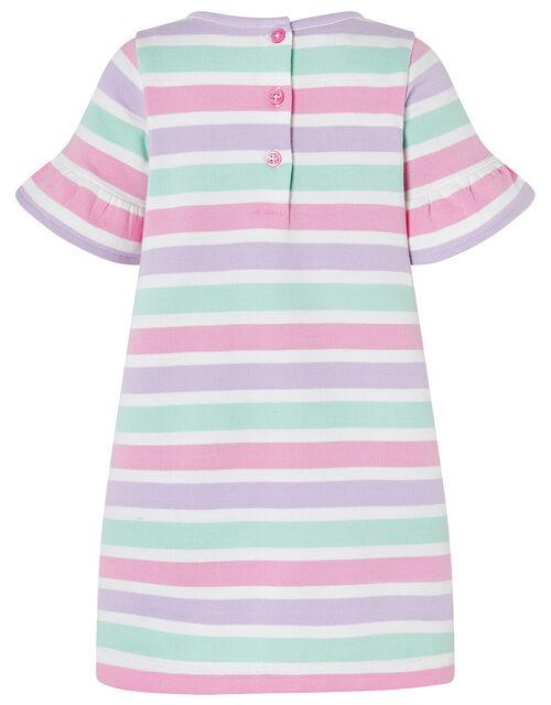 Baby Tutti Stripe Sweat Dress, Pink (PINK), large