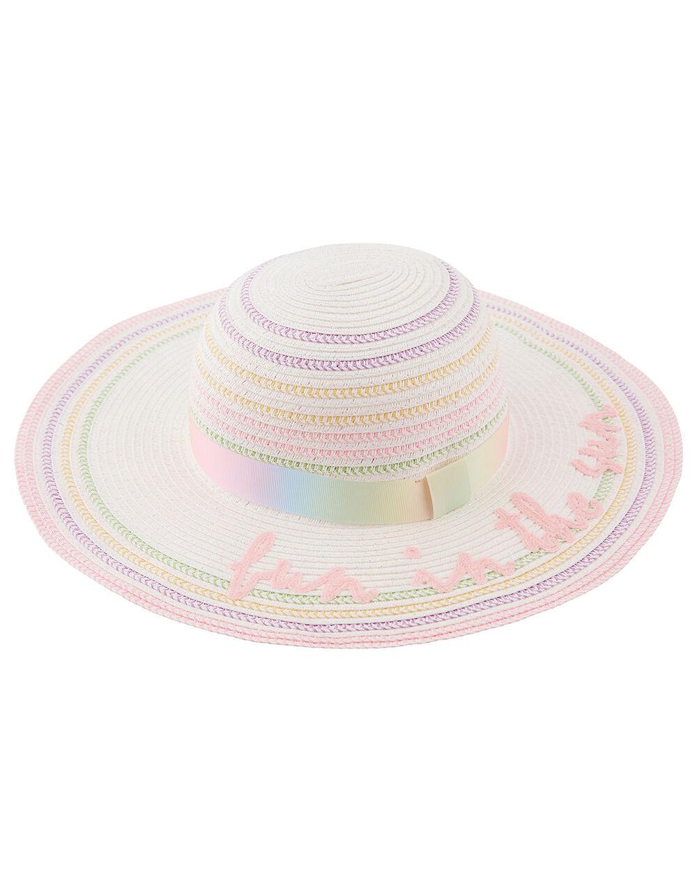 Fun in the Sun Rainbow Floppy Hat, Multi (MULTI), large