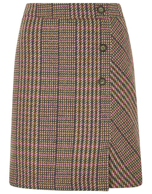 Patsy Check Skirt, Brown (BROWN), large