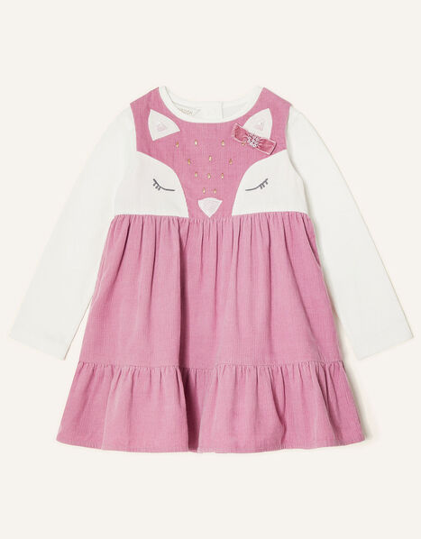 Baby Fox Cord Dress Set Pink, Pink (PINK), large