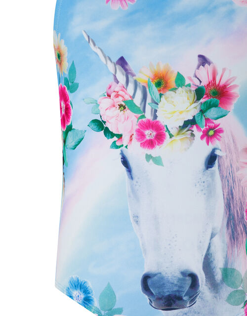 Felicity Unicorn Swimsuit with Recycled Polyester, Blue (TURQUOISE), large