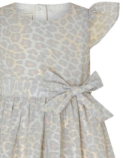 Baby Alanis Animal Print Dress, Grey (GREY), large