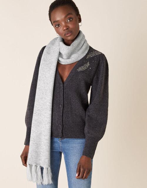 Shimmer Knit Scarf, , large