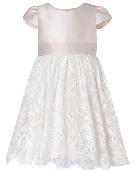 Baby Lace Skirt Bridesmaid Dress Pink, Pink (PINK), large