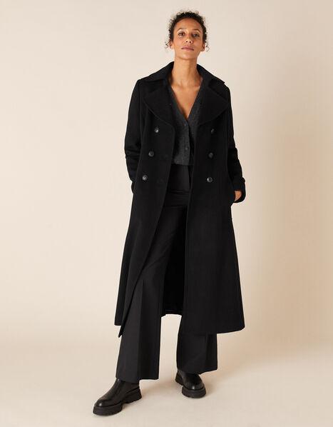 Charlotte Maxi Coat Black, Black (BLACK), large