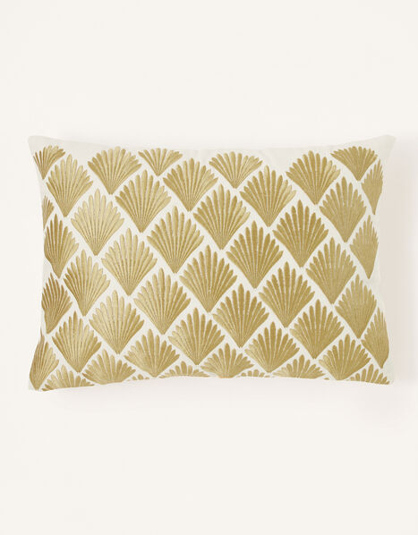 Metallic Fan Rectangle Cushion, , large