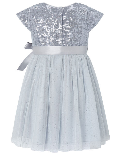 Baby Paige Embellished Occasion Dress, Blue (BLUE), large