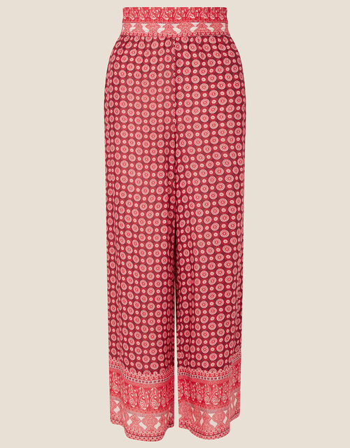 Jade Printed Trousers in LENZING™ ECOVERO™, Red (RED), large