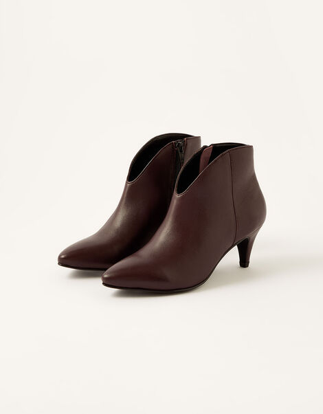 Low Vamp Suede Ankle Boots Red, Red (BURGUNDY), large