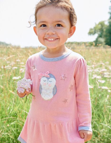 Baby Owl Knit Dress Pink, Pink (PINK), large