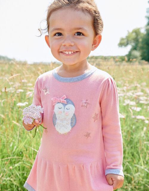 Baby Owl Knit Dress, Pink (PINK), large