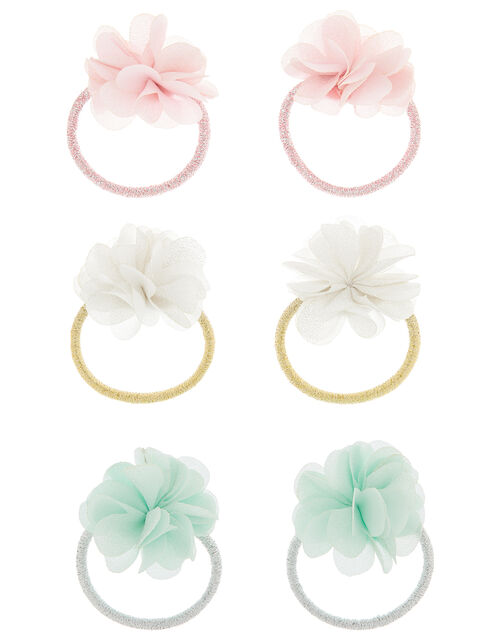 Shimmery Floral Hair Band Set, , large