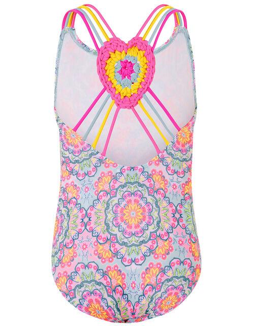 Mandala Crochet Back Swimsuit, Purple (LILAC), large