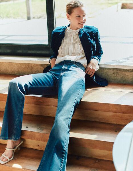 Denim Flare Jeans Blue, Blue (DENIM BLUE), large