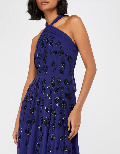Annabel Floral Embellished Maxi Dress, Blue (COBALT), large