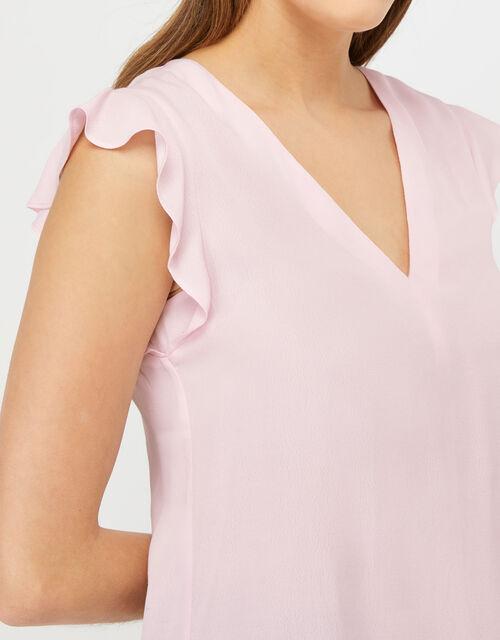 Nessa Short Sleeve Blouse in LENZING™ ECOVERO™, Pink (BLUSH), large