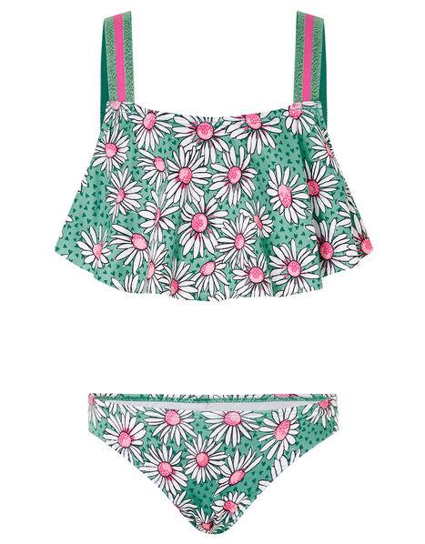 Daisy Print Bikini Set Green, Green (GREEN), large