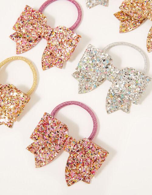 Glitter Bow Hairband Set, , large
