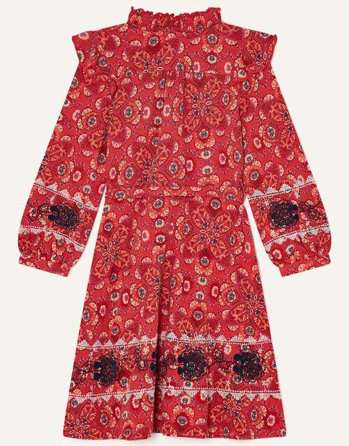MINI ME Davina Printed Frill Dress , Red (RED), large